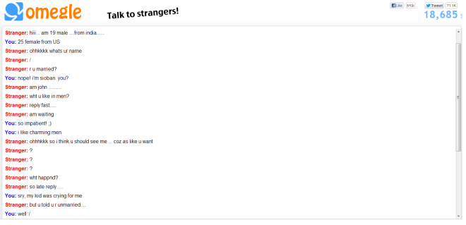 Adventures on Omegle